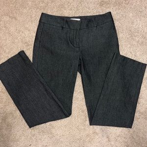Loft gray ankle pants - very nice!!